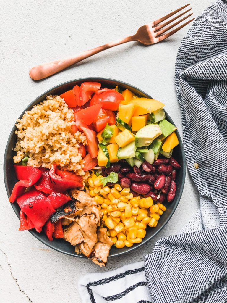 Vegan fajita bowl - Healthy Habits