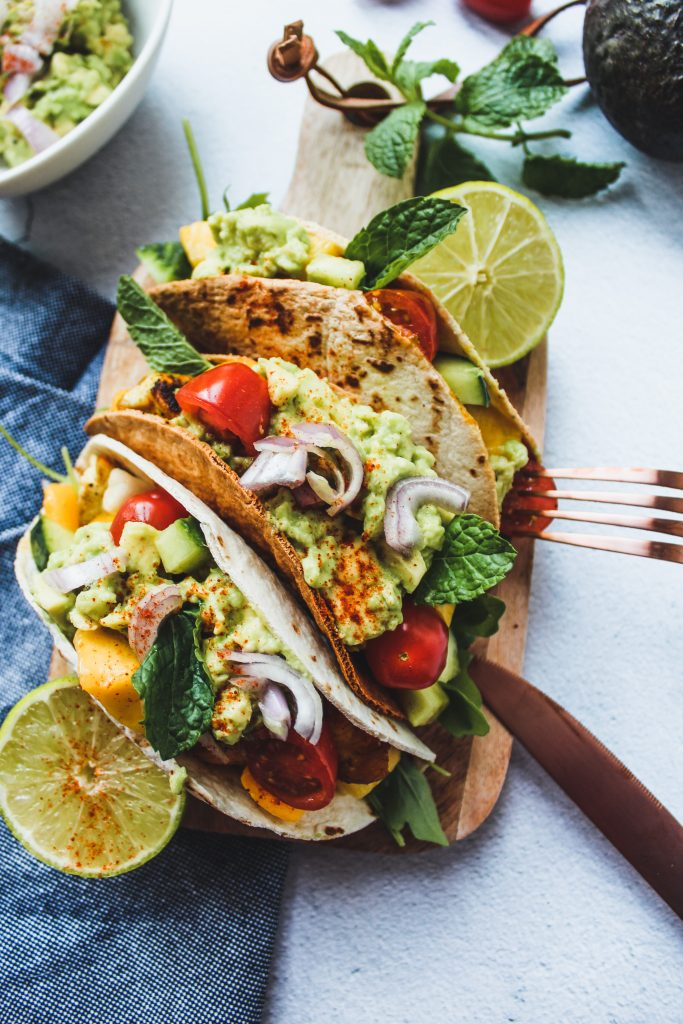 Taco's met kip en mangosalsa