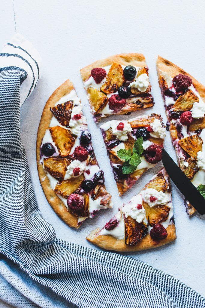 Zoete pizza
