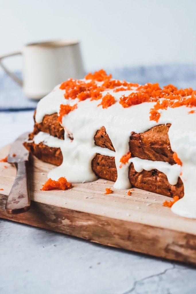 Gezonde wortelcake