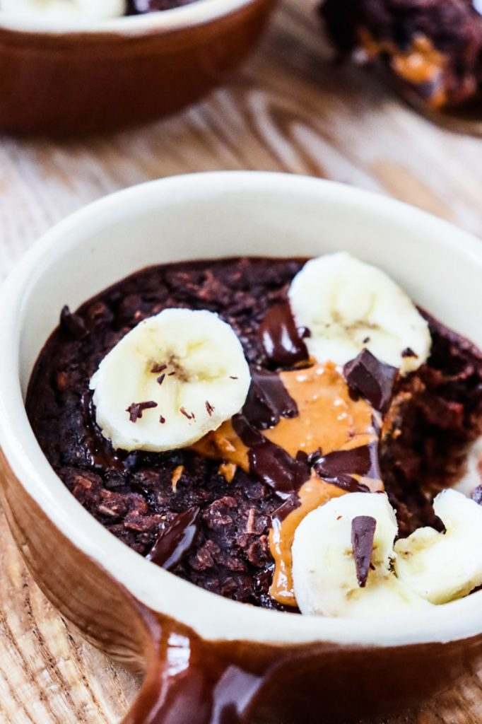 Chocolate baked oats